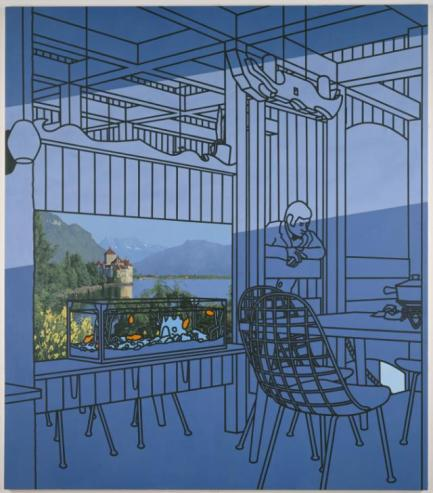 After Lunch 1975 by Patrick Caulfield 1936-2005