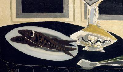 la carafe et les poissons 1941